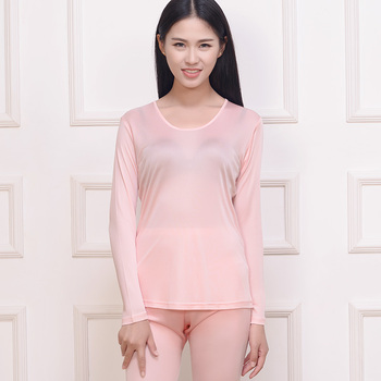 Female Silk Knit Double 120g Female Underwear Suits Female Backing Silk Suit