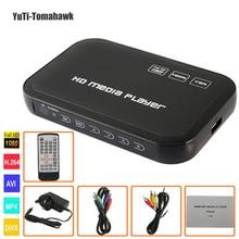 1080 P Full HD Медиа-Проигрыватель HDD ВХОД SD/USB/HDD Выход HDMI/AV/VGA/AV/YPbpr Поддержка DIVX AVI RMVB MP4 мультимедийный плеер
