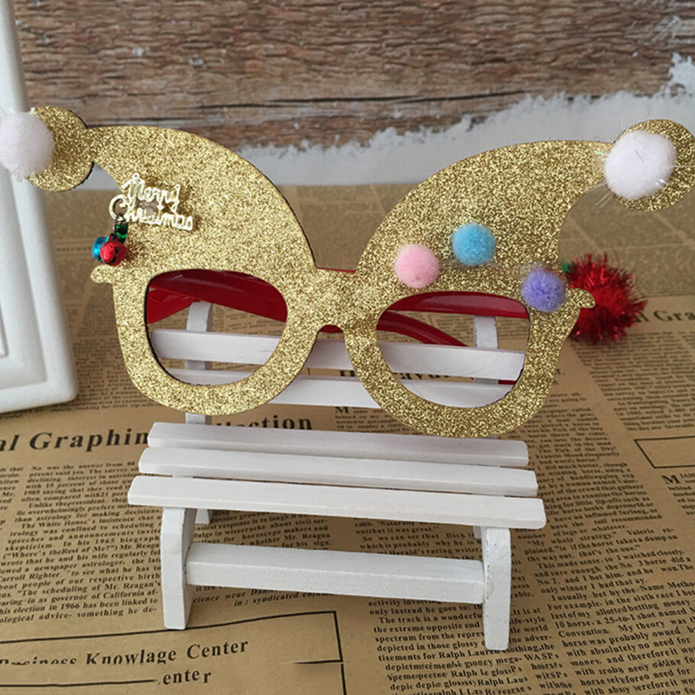 Men's Eyewear Frames Logical Novelty Christmas Decoration Glasses Children Christmas Gifts Holiday Supplies Paper Led Party Creative Glasses Apparel Accessories