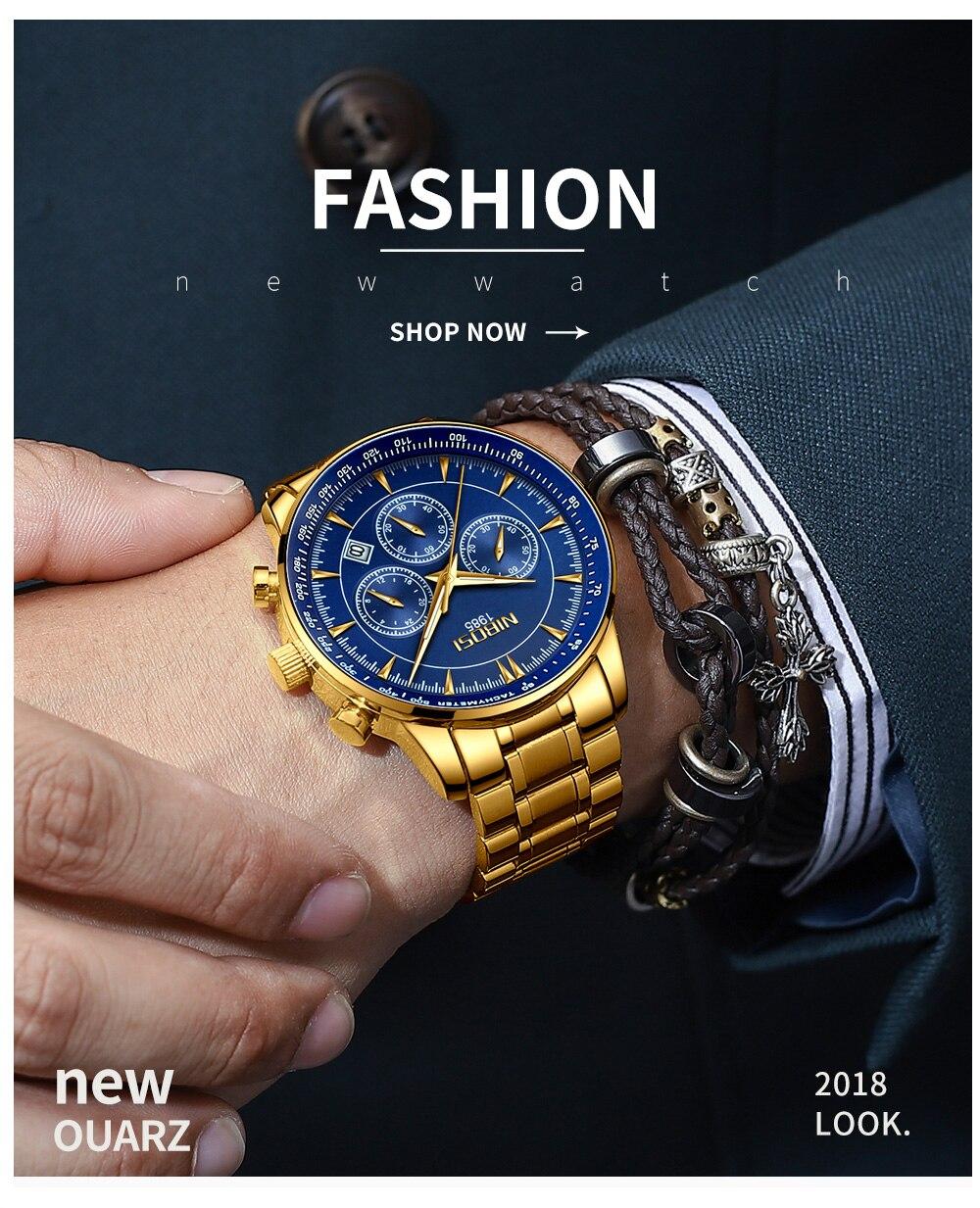 Relogio Masculino NIBOSI Quartz Watches Men Steel Band Men Watches 2018 Luxury Brand Waterproof Wrist Watches For Men Brand Saat (9)