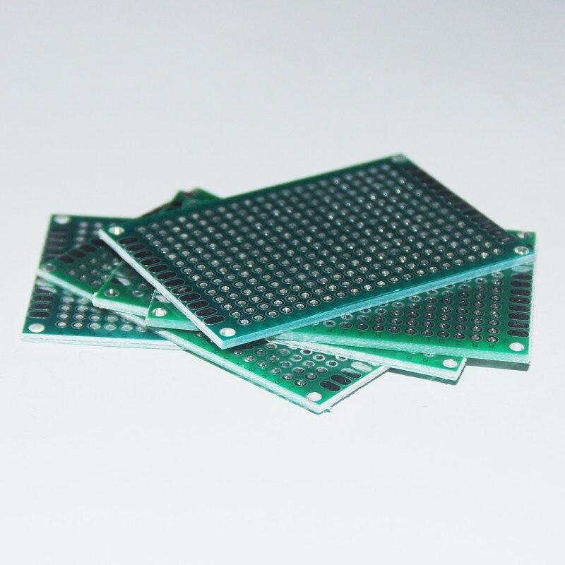 10 шт. PCB Прототип Платы Печатную Плату PCB Цена Универсальный Прототипов Stripboard Veroboard 4X6 СМ 1.6 ММ Двойной бортовой Модуль