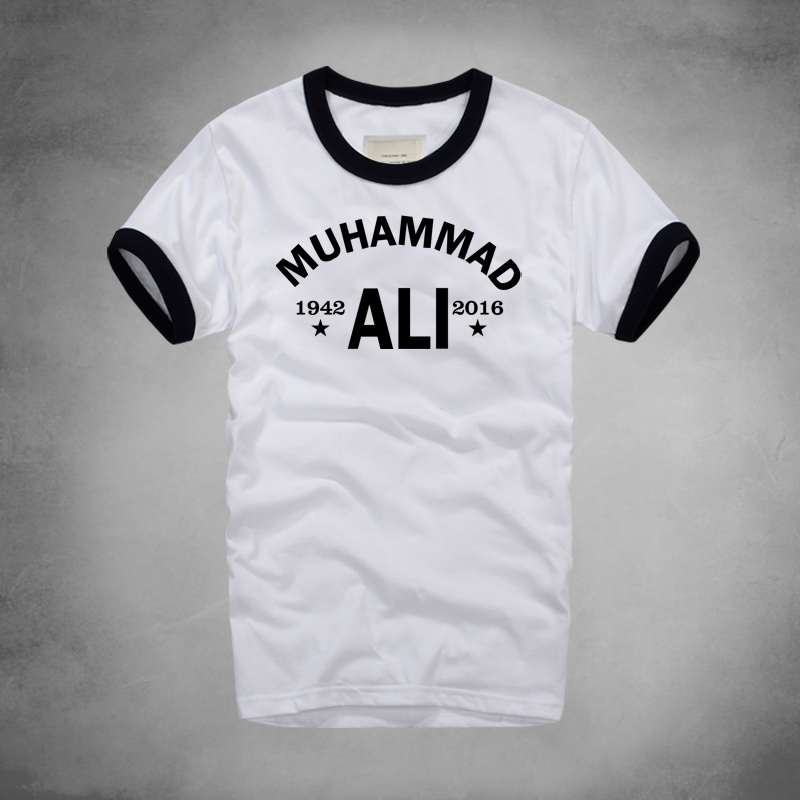 Muhammad Ali   T     Shirt   Mma Casual Clothing For Men Greatest Fitness Short Sleeve Printed Tee   Shirt   Plus Size Homme Tshirt   T  -  shirt