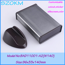 1 piece free shipping aluminum amplifier case extruded aluminum box projects 96x33x140 mm aluminium profile