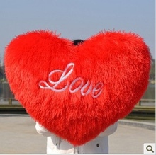 plush heart pillow toy Red heart cushion heart love doll love gift about 35cm
