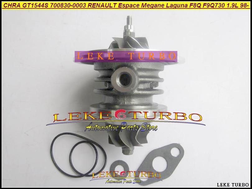 Free Ship Turbo Cartridge CHRA GT1544 700830 700830-0003 700830-0001 For Renault Kangoo Espace Megane Laguna Scenic F9Q F8Q 1.9L