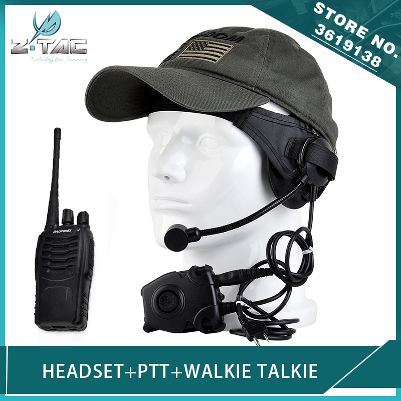 Z-Tactical Airsoft Military Selex TASC1 Headset and Peltor PTT Headphones for BAOFENG888S Kenwood Walkie Talkie  Softair Radio air dragon portable air compressor