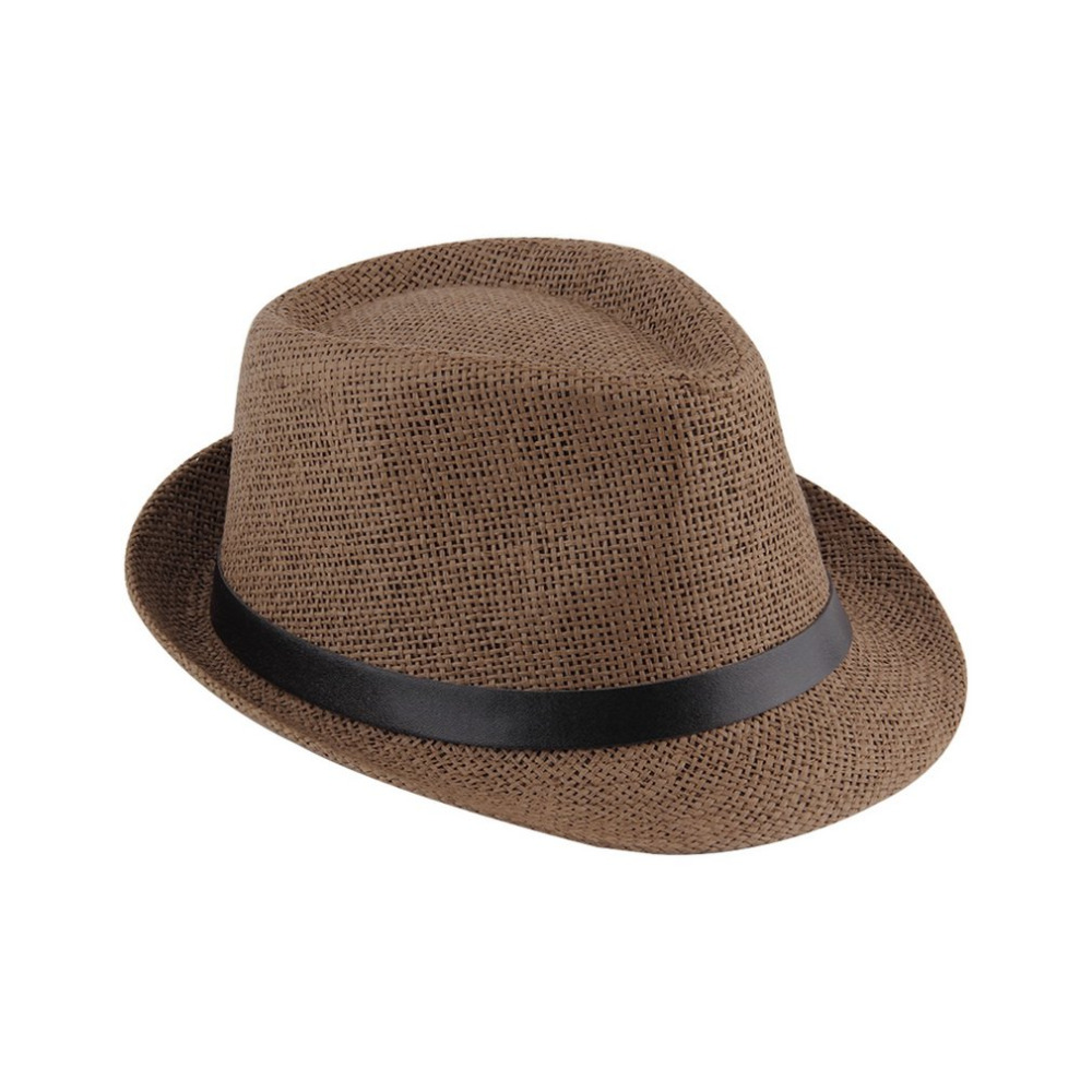 Top Quality 2018 Trendy Trendy Men s Sun Hats Summer Straw Jazz Hat Large  Size Comfortable Unisex Beach Seaside Panama Sun Caps -in Sun Hats from  Apparel ... 85d7308bc55