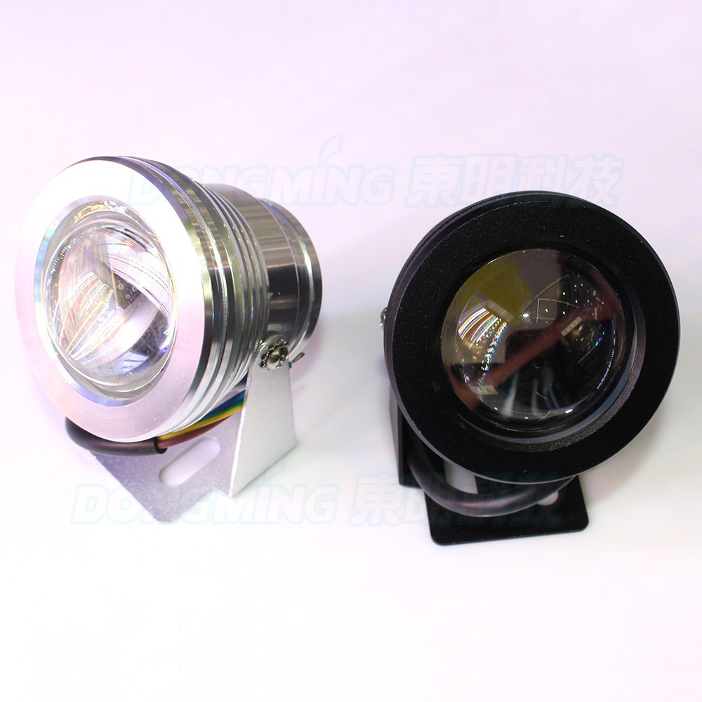 10 pçs led underwater silver cover led