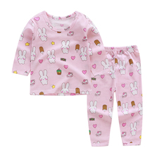 Girls Clothing Sets 2019 Summer Cotton Two-piece Long Sleeve Children Sets Casual Fashion Girls Clothes Suit Skirt Boys Clothes cheap Full cartoon O-Neck REGULAR Coat Pullover Fits true to size take your normal size Unini-yun