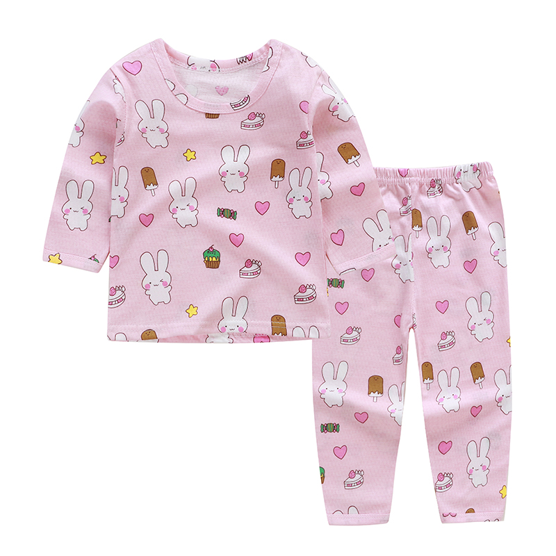 Girls Clothing Sets 2019 Summer Cotton Two-piece Long Sleeve Children Sets Casual Fashion Girls Clothes Suit Skirt Boys Clothes