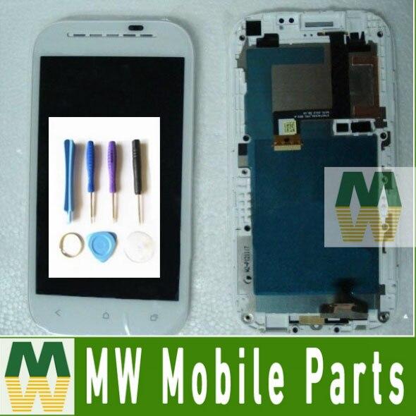1 pc/lote display lcd + montagem da tela de toque digitador para htc UM SV T528T Com Quadro com ferramentas de Cor Preta Livre grátis