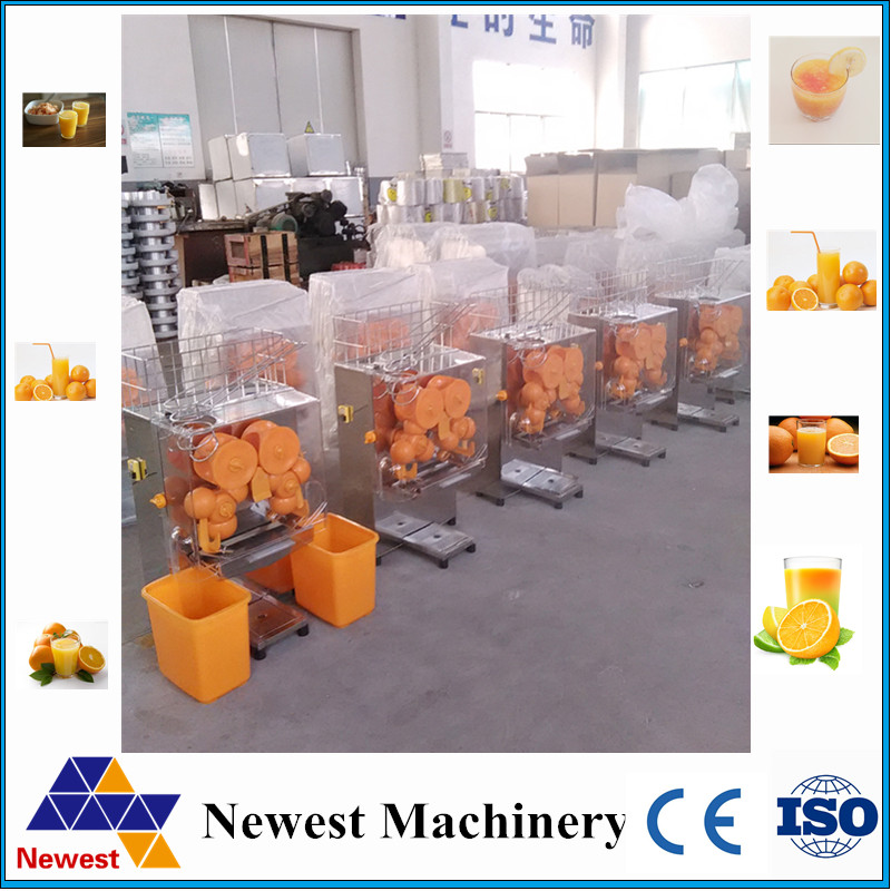 Free DHL shipping 304 Stainless steel automatic electric orange juicer, industrial orange juicer machine for Commercial