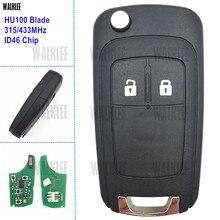 WALKLEE terno para Chevrolet Cruze Aveo Malibu Spark Sail Remoto Chave 315 MHz ou 433 MHz com ID46 Chip Integrado