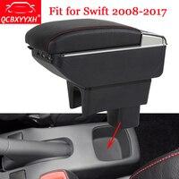 QCBXYYXH Car Styling ABS Car Armrest Box Center Console Storage Box Holder Case Fit For Suzuki Swift 2008 2017 Auto Accessories