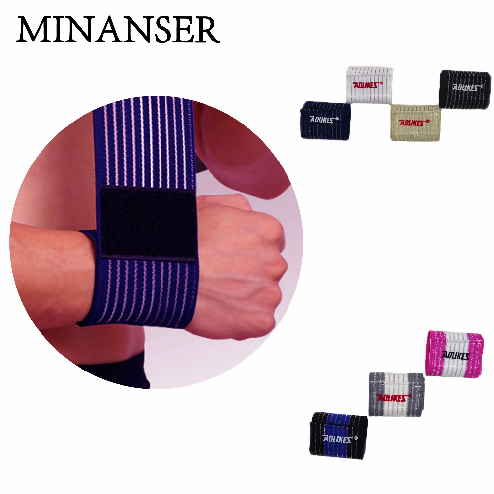 Minanser Cotton Elastic Bandage Hand Sports Arm Bands Safety Wristband Gym Support Wrist Brace Wrap Carpal Tunnel Wrestle Men's Accessories Apparel Accessories