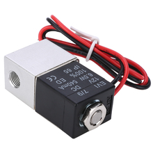 DC 12V Solenoid Valve 1/8 Normally Closed 2 Way Quick Release Pneumatic Valves For Water Air Gas Liquid Solenoid Valve free shipping 1 1 2 2 way pulse solenoid valve normally closed dmf z 40s