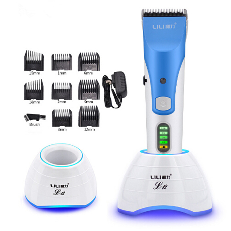 Rechargeable Electric Hair Clipper Titanium Hair Trimmer Beard Trimer Electric Cutter Hair Cutting machine Smart LCD Display rechargeable washable hair and beard trimmer clipper with accessories set 220 230v ac