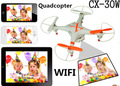 Mini drone with wifi camera Cheerson FPV CX-30W Quadcopter Wifi Phone Control Helicopter 2.4G 6 Axis Drones With Camera HD  FSWB