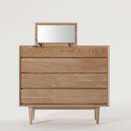 Anese Style Oak Furniture Dodge Scandinavian Modern Minimalist Dresser Solid Wood Vanity Cabinet Lockers Four Bucket