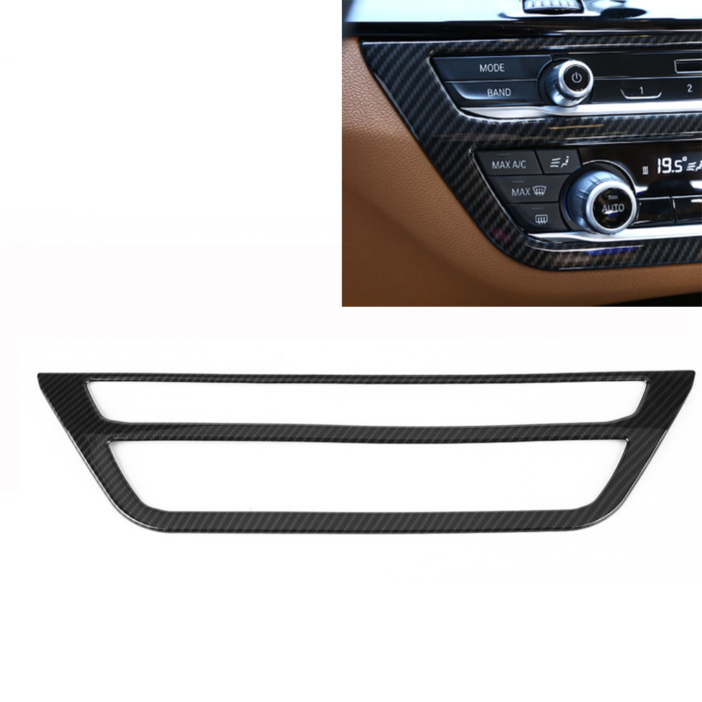 For BMW 5 Series G30 2017 2018 Carbon Fiber Style font b Car b font Center