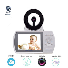 Wireless 2.4GHz 3.5inch LCD Audio Video Baby Monitor Radio Music Intercom IR Night Vision Portable Baby Camera Baby Walkie Talki