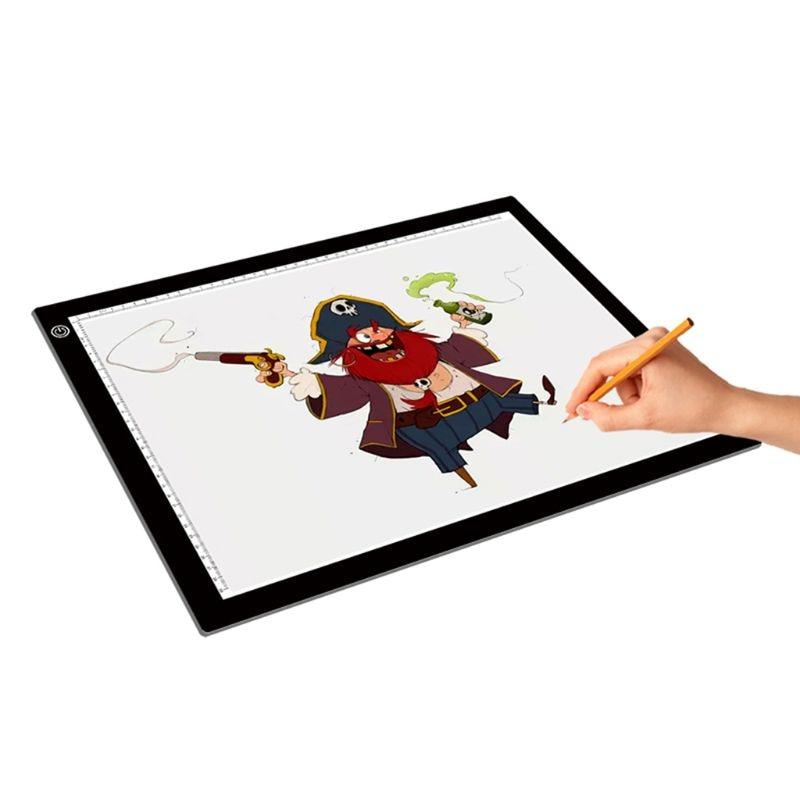 A3 lumière LED boîte de traçage conception tatouage pochoir artiste dessin Lightbox Pad Board
