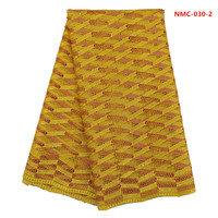 (5yards/pcs)Gold stripe guipure lace fabric with hollow out design for african party dress sewing June-10-2017
