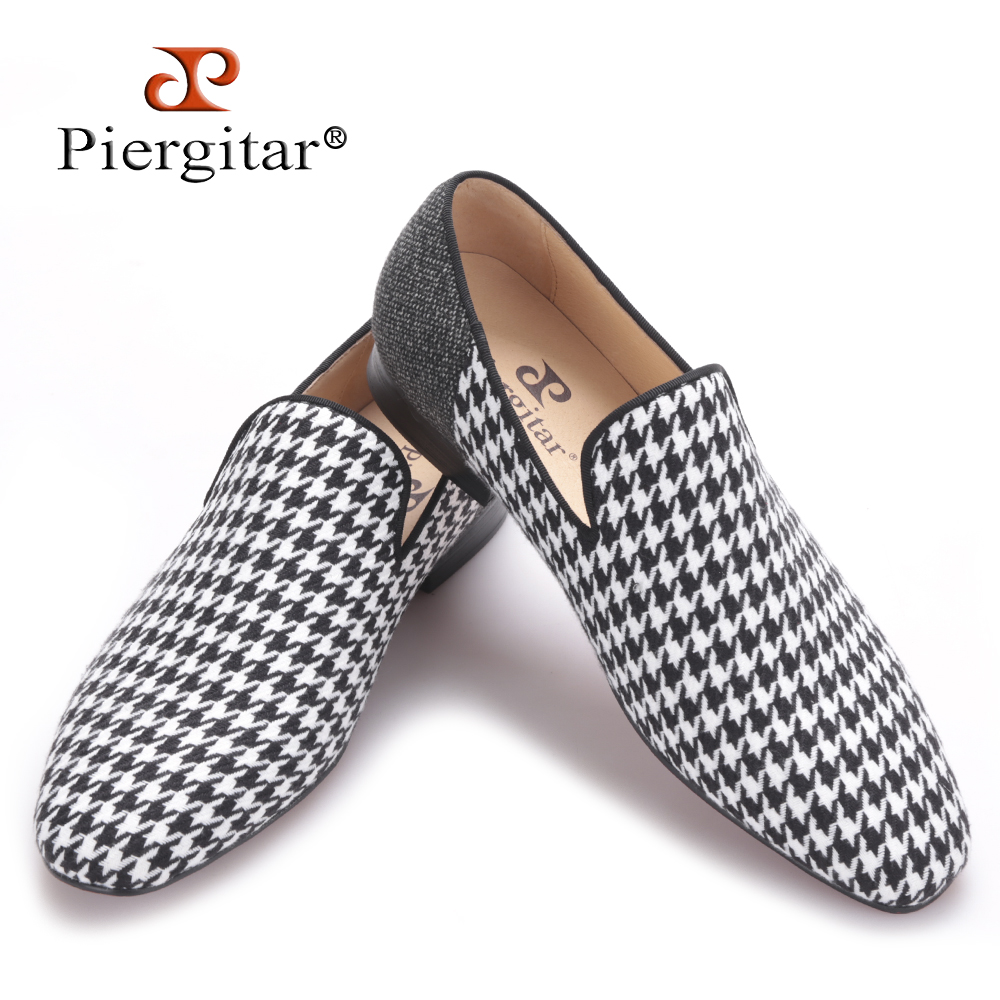 Piergitar brand 2017 Handmade men flats shoes with Swallow gird patchwork Party and Banquet men dress shoes big size men loafers handmade red suede men shoes with gold rhinestone and gold toe metal party and banquet men dress loafers male s flats
