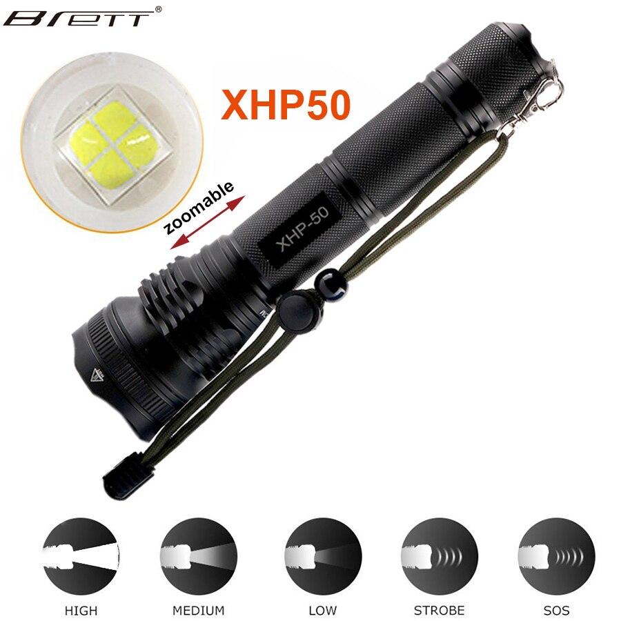 Nouveau Long Shot LED Tactique lampe de Poche CREE XHP50/XHP70 Point Culminant 5000 Lumens lanterna en aluminium 2 mode LED lampe torche