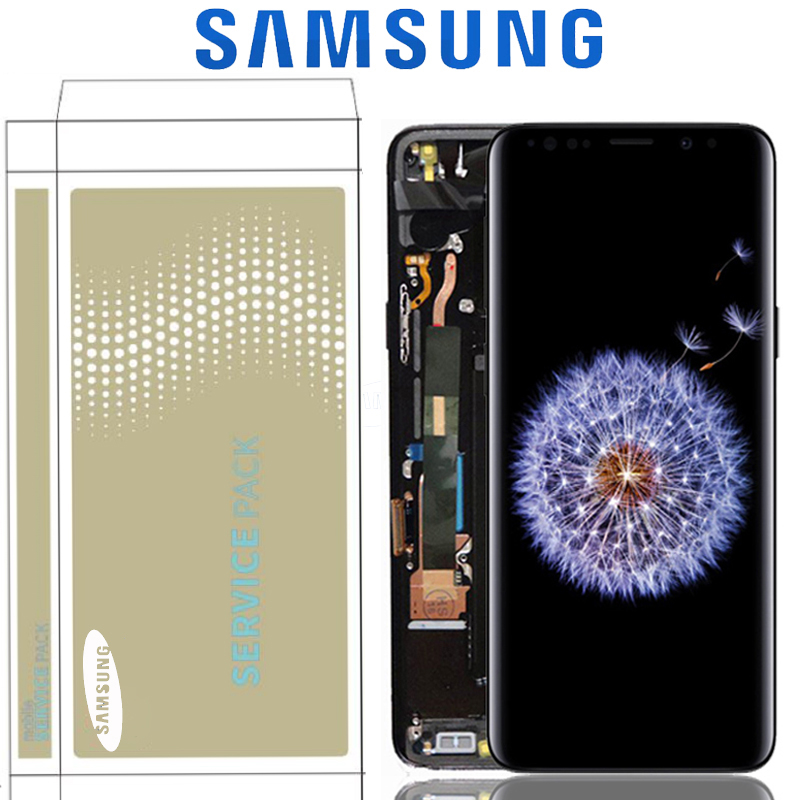 Original 5 8 Display For SAMSUNG Galaxy S9 G9600 LCD With Touch Screen Digitizer Assembly Replacement