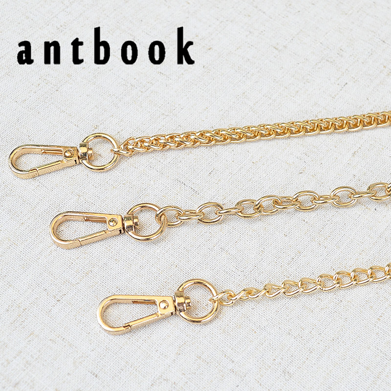 128 CM Gold Metal Chains Shoulder Bag Replacement Belt Gold Chain Strap Metal Accessories For Handbags
