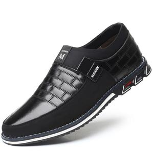 Image 2 - Plus Size 38 46 NEW 2021 Genuine Leather Men Casual Shoes Brand Mens Loafers Moccasins Breathable Slip on Black Driving Shoes