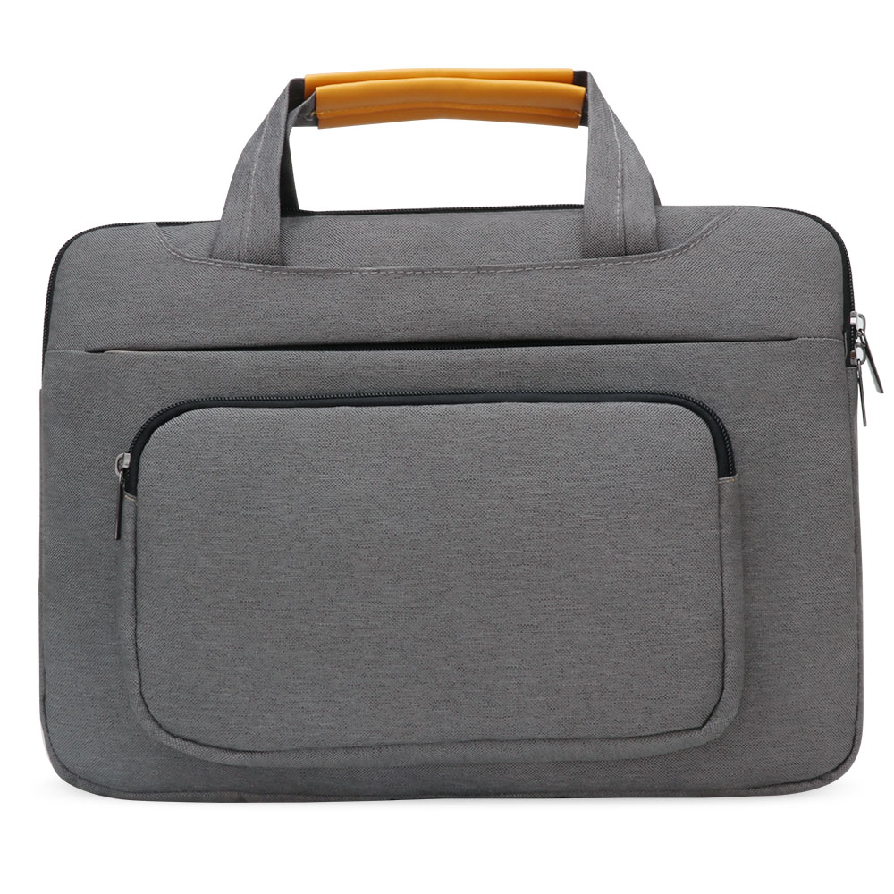 Image 2 - iCozzier 13.3 inch Front Pocket Laptop Sleeve Large Capacity Handbag Protective Business Case Bag for 13 Ultrabook/Notebook-in Laptop Bags & Cases from Computer & Office