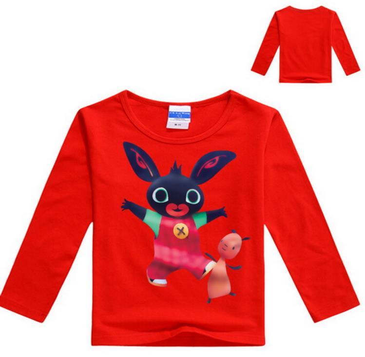 Kinderen T-shirt Jongens Tiener Jongens Kleding 2-12Years Bunny Bing Bung Konijn Kostuum Meisjes Lange Mouw Tops Jongen T Shirts