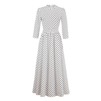 Sisjuly Women S Casual Dresses 2017 Summer Three Quarter Sleeve O Neck A Line Floor Leng