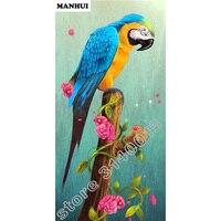 100 DIY 5D Diamond Mosaic Parrot Bird Handmade Diamond Painting Cross Stitch Diamond Embroidery Patterns Rhinestones