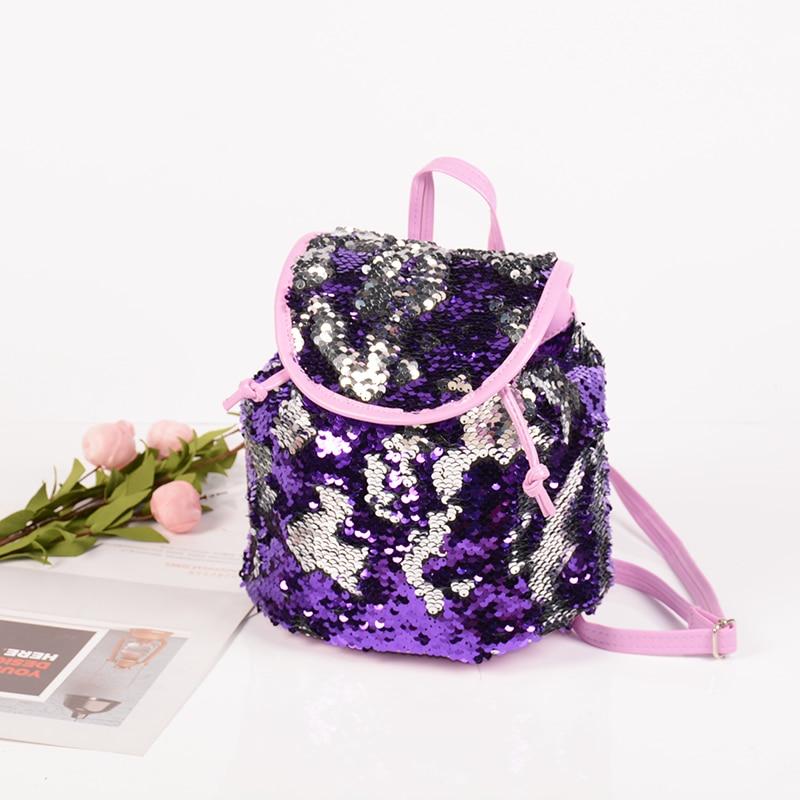 Women Travel Bags Sequins Color Change Backpack Teenager Girls School Bags String Backpacks Girl Bagpack недорого