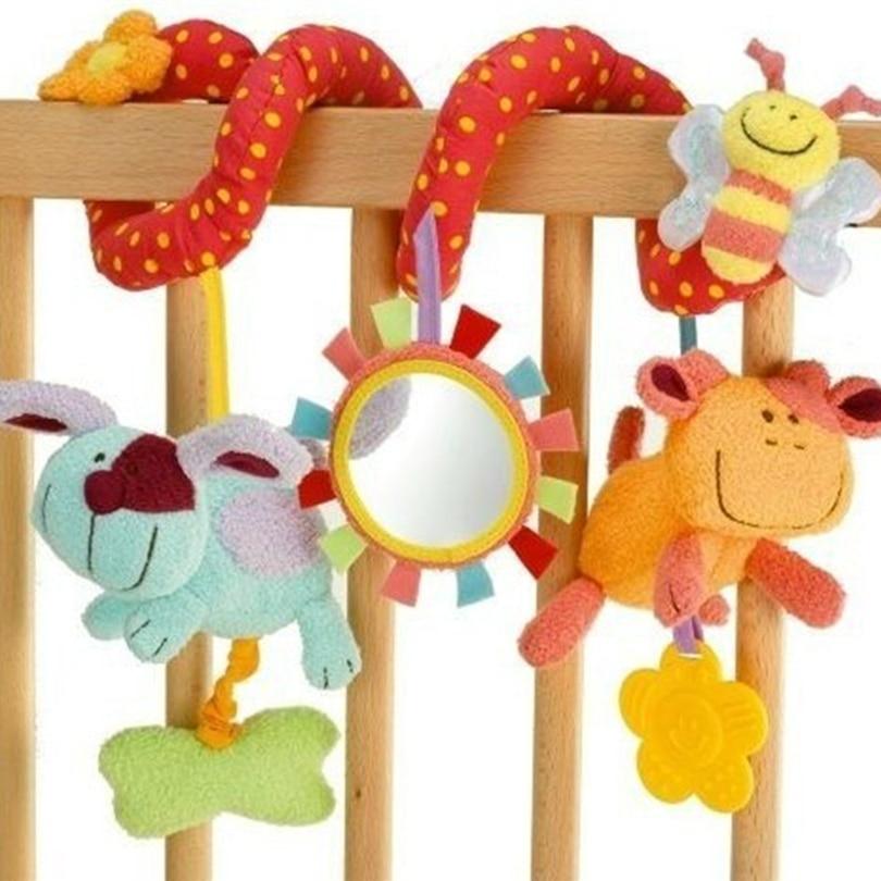 Hoge kwaliteit multifunctionele elc dier bed auto draaibank hangen rode paragraaf BABY beddengoed speelgoed WJ135