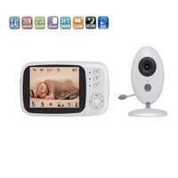 3.5 inch LCD Wireless Baby Monitor Automatic LCD Audio Video Security Mini Camera Night Vision Baby Room Temperature Detection
