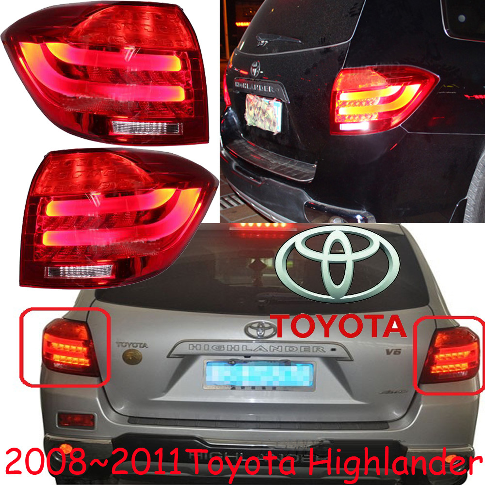 car-styling,Highlander Taillight,2008~2011,led,Free ship!2pcs,Highlander fog light;car-covers,Highlander tail lamp; high lander car styling golf6 taillight 2011 2013 led free ship 4pcs golf6 fog light car covers golf7 tail lamp touareg gol golf 6