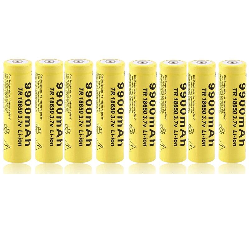 Cncool 20 pcs 3.7 V 18650 Batterie 9900 mah au lithium batteria batterie au lithium rechargeable pour lampe de poche Torche Accumulateur Cellules