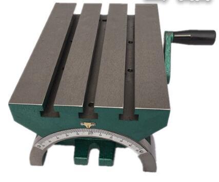 7-cal z regulowanym kątem stół z podnośnikiem ręcznym kąt platformy frezarka wiercenia stół