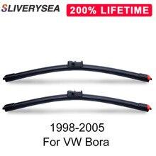 SLIVERYSEA Replace Wiper Blade for Bora 1998-2005 Silicone Rubber Windshield Windscreen Auto Car Accessories