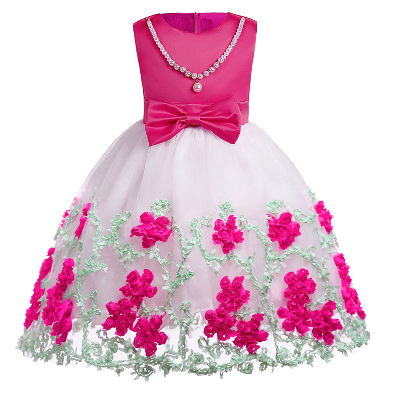 ᗕLZH 2018 verano flor de la boda niñas vestido de fiesta de los ...