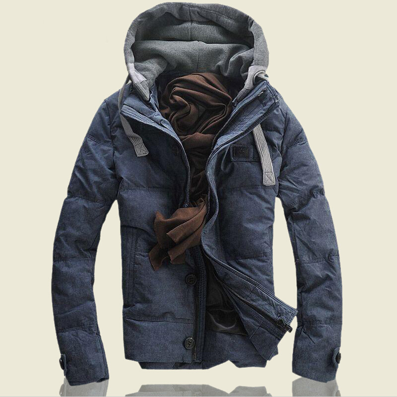 HRM Slim models thick down jacket short paragraph Korean version of the influx of young men's winter coat white duck down