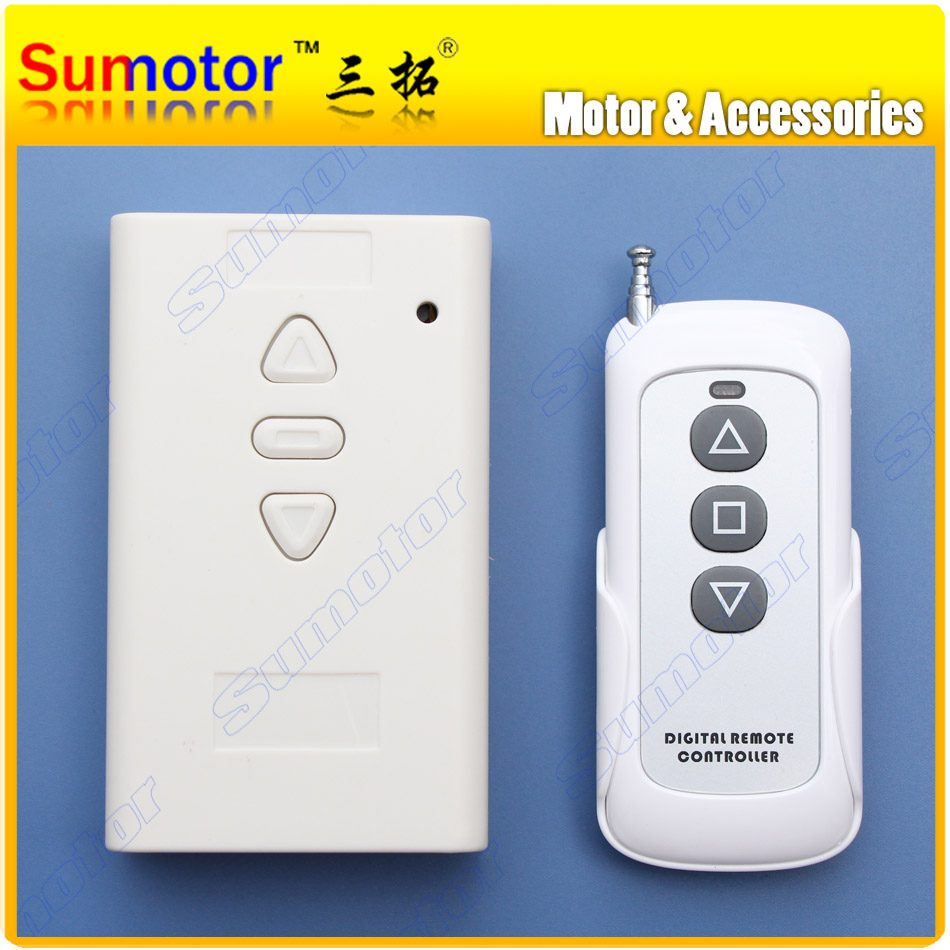 купить DC 36V 10A MOTOR remote wireless controller switch reversal Linear actuator Electric curtain / screen Garage open Stroke limited дешево