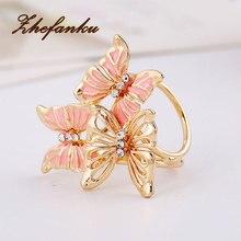 New Fashion Jewelry Women Gold Color Butterfly Scarf Clips Brooch Pin Enamel Butterfly Scarf Buckle Clips Wedding Brooch