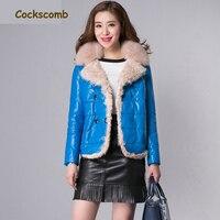 Cockscomb Real Fox Fur Collar Lamb Fur Trim Women's Leather Jackets Women Short Natural Leather Jacket Female Sheepskin Coat