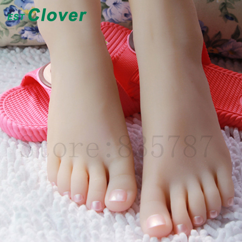 Silicone Foot,Sex Toys Female Mannequin Foot, Shoes Display 35#  C150