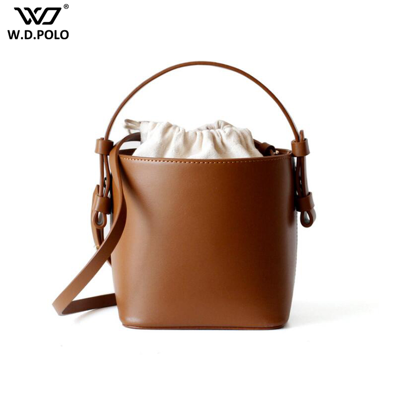 Vintage Genuine Leather Women Shoulder Bag Fashion Brand Design Bucket Lady Handbag Trendy Female Tote Q033Vintage Genuine Leather Women Shoulder Bag Fashion Brand Design Bucket Lady Handbag Trendy Female Tote Q033